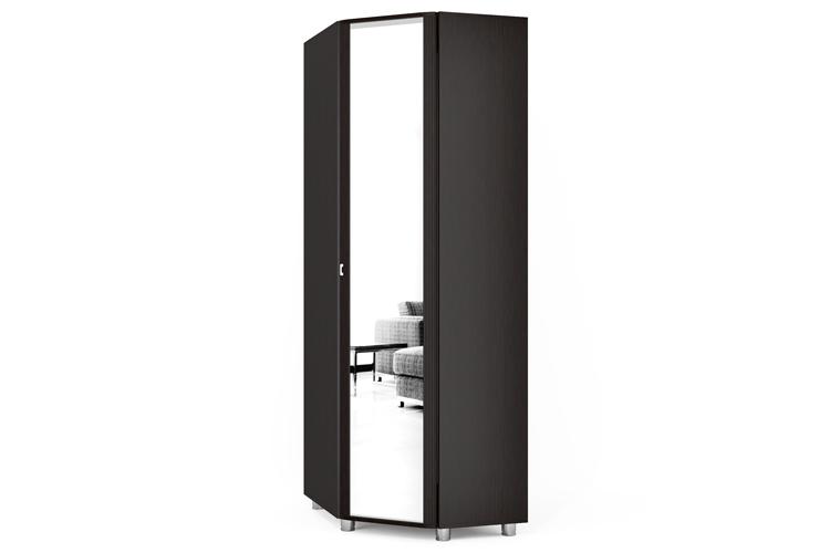 """Модуль ам-13.2 шкаф угловой с зеркалом разнобокий """"амелинда""""."""